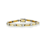 14 kt. yellow and white gold diamond tennis bracelet