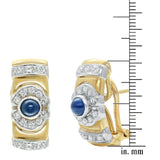 Diamond and sapphire earrings in 18 k gold