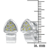 Cognac diamond earrings in 18k white gold