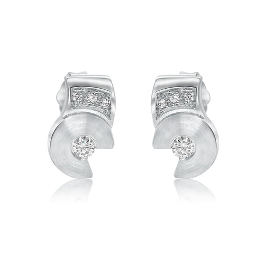 Striking 18 karat white gold diamond earrings