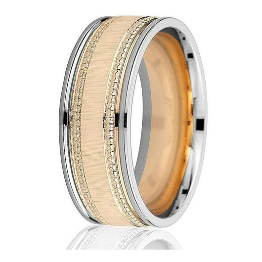 Wedding ring (14k -8mm two-tone)