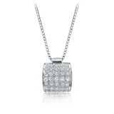 "White gold ""buckle"" pendant in 14kt white gold"