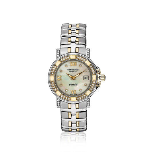 Raymond Weil Parsifal ladies watch with diamonds and mother of pearl diamond dial