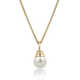 Freshwater pearl pendant in 14k gold with chain