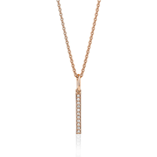 Vertical Diamond Bar With Chain