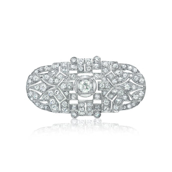 Art Deco style diamond estate pin