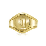 Signet ring in 14k gold