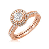 14 kt. rose gold engagement ring