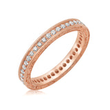 14 kt. rose gold diamond wedding band