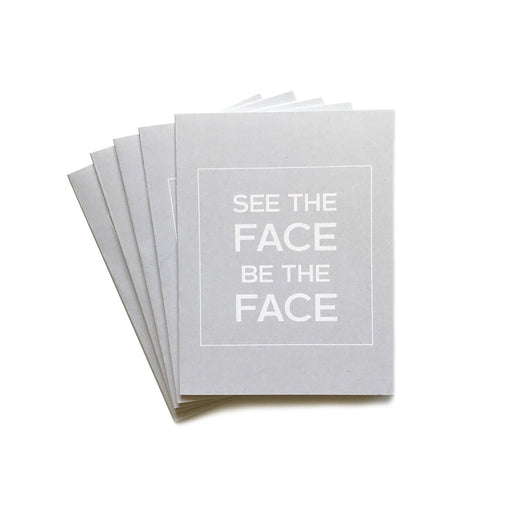 [B] notecards - blank | pack of 5 | see the face. be the face.
