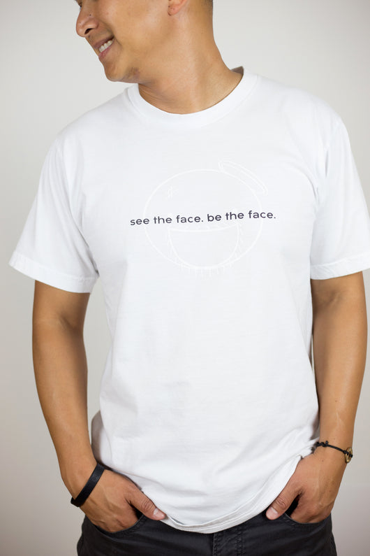 adult unisex | white | see the face. be the face.