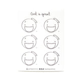 [B] sticker sheet | face of Christ