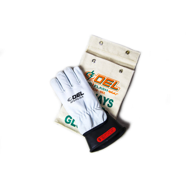Insulated Electrical Rubber Glove Kit - Class 0 (1,000V)