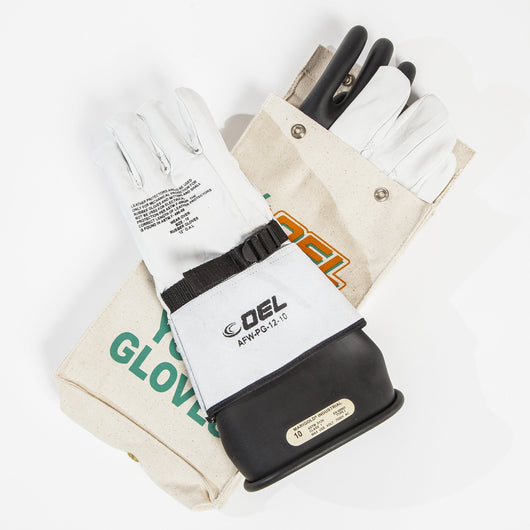 Insulated Electrical Rubber Glove Kit - Class 1 (7,500V)