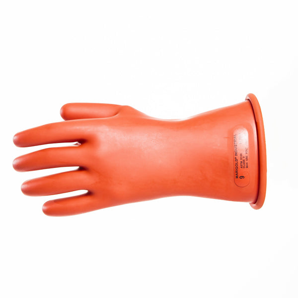 Insulated Electrical Rubber Gloves - Class 0 (1,000V)