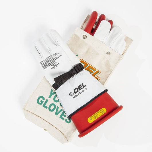 Insulated Electrical Rubber Glove Kit - Class 2 (17,000V)