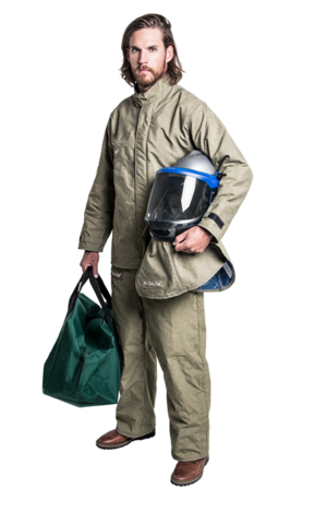 40 cal Premium Arc Flash Kit - FR Shield Jacket and Bib Overalls