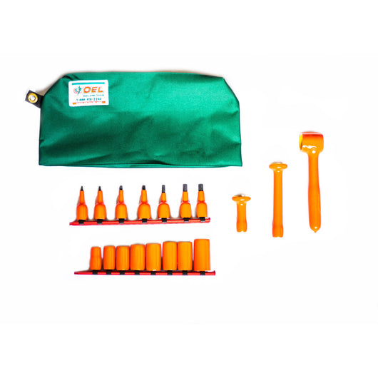 Insulated Socket & Hex Bit Set - 20pcs