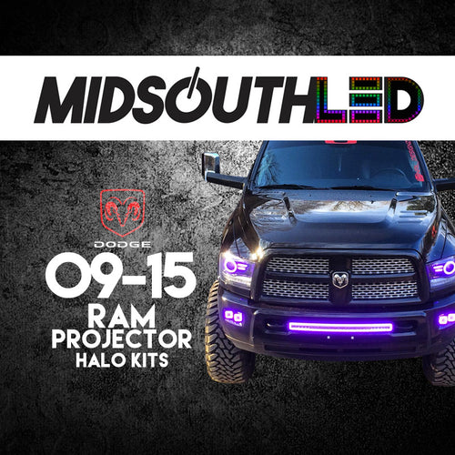 2009-2015 Dodge Ram Projector COLORWERKZ Halo Kit