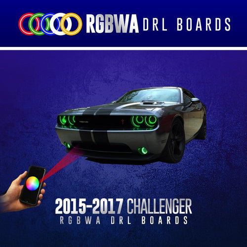 2015-2017 Dodge Challenger RGBWA DRL Boards