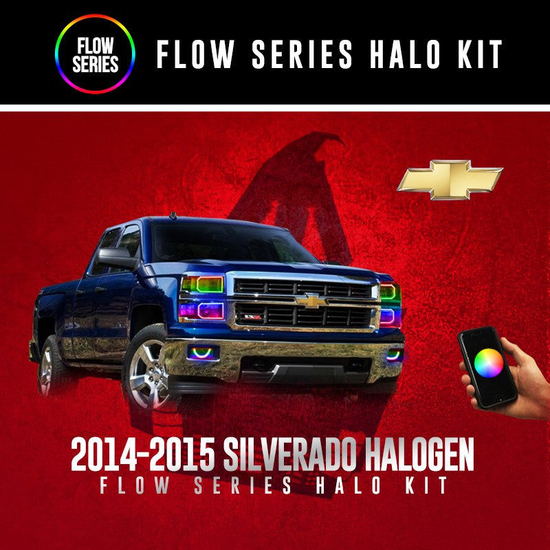 2014-2015 Silverado (Halogen) Flow Series Halo Kit
