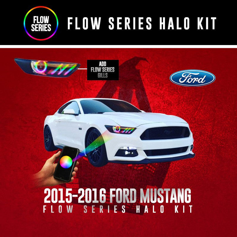 2015-2016 Ford Mustang Flow Series Halo kit