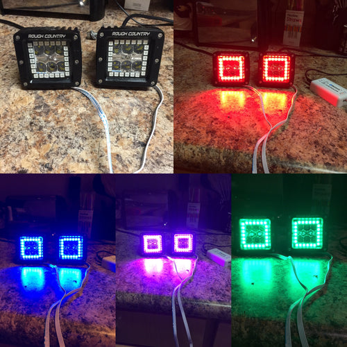 LED Cube colorchanging HALO KIT