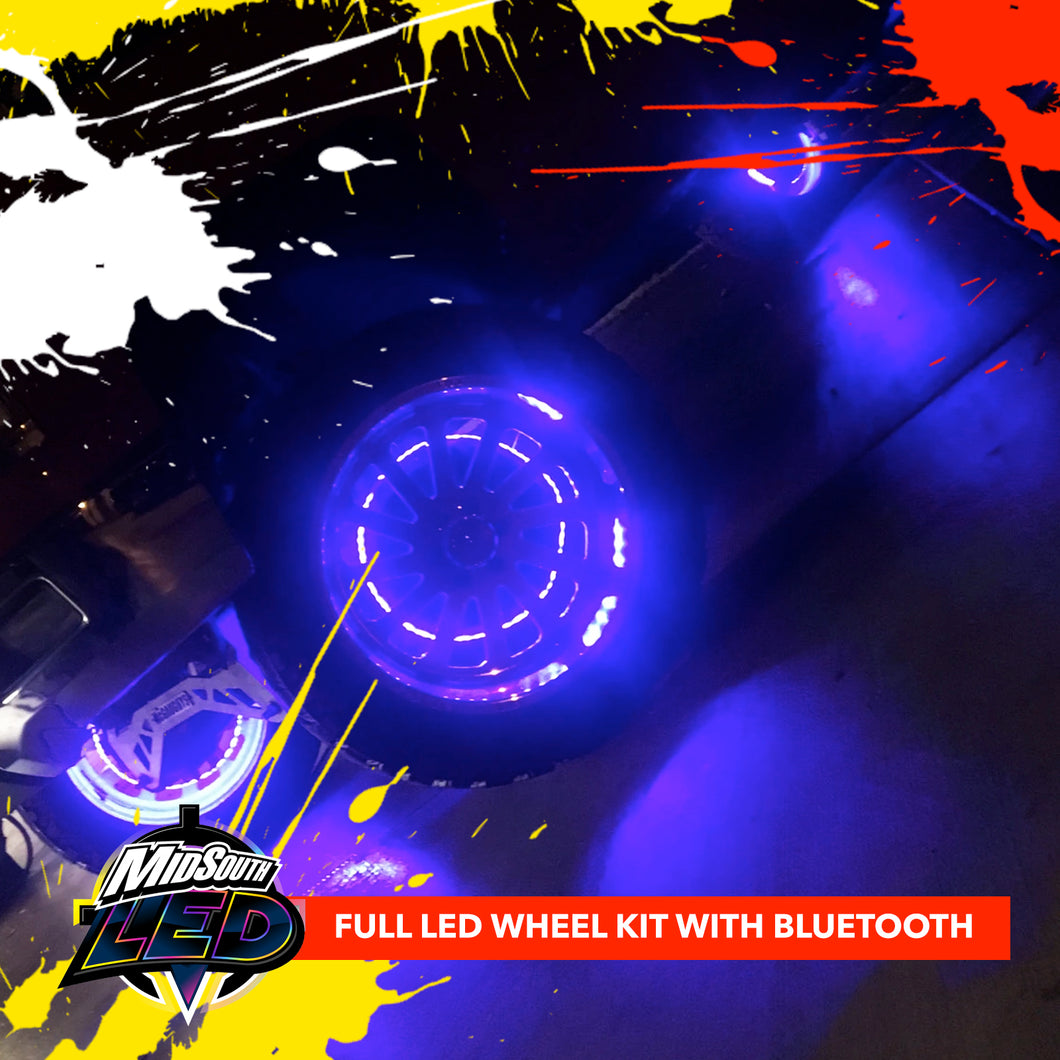 LED WHEEL LIGHT FULL KIT WITH BLUETOOTH