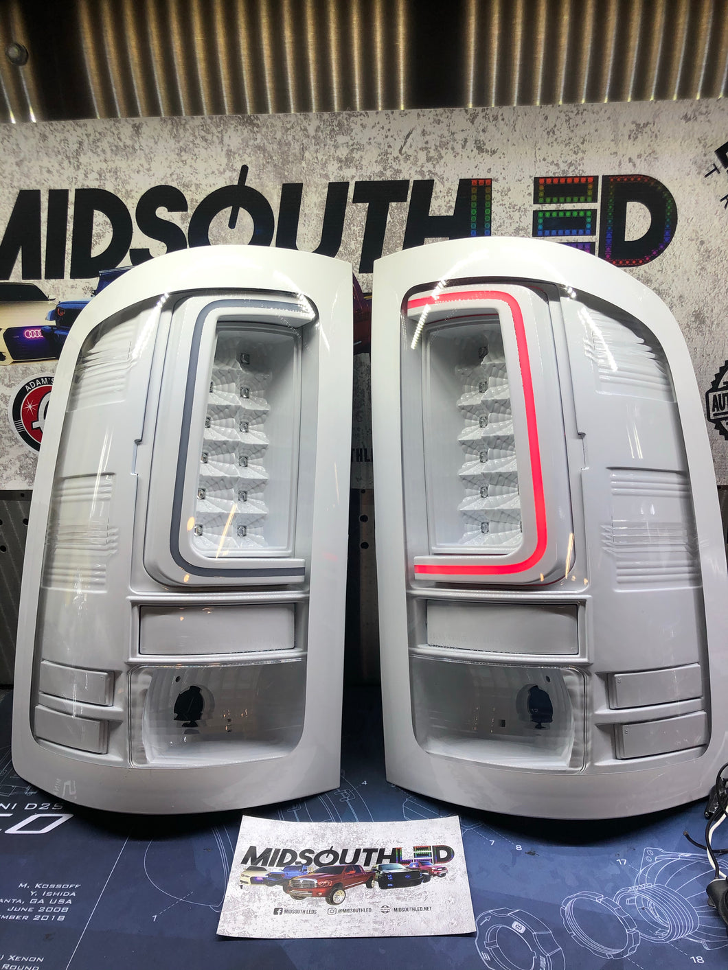 07-13 Sierra C-Bar Colormatch LED Tail Lights