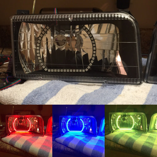 Prebuilt 1992-96 ford f150 f250 headlights