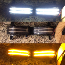 Switchback tow mirror marker light strips