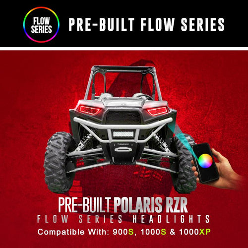 Polaris RZR Flow Series Pre-Built Headlights