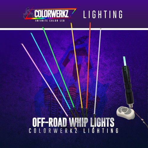 LED RGB Whip Light