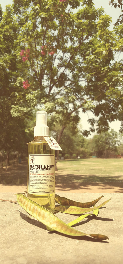 Botanic Love Tea Tree & Neem Anti Dandruff Hair Oil, Hair Oil, Botanic Love, ihaat, [made_in_india], [handmade] - ihaat