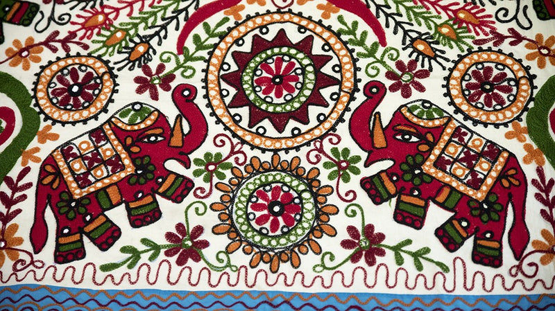 Table Cloth, Home Decor, Bhawana from Janpat, ihaat, [made_in_india], [handmade] - ihaat