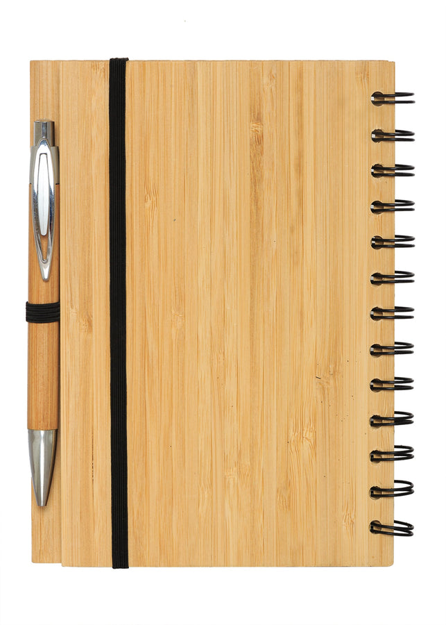 Bamboo India Bamboo Notepad with Pen, Stationery, Bamboo India, ihaat, [made_in_india], [handmade] - ihaat