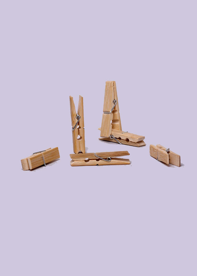 Bamboo India Bamboo Pegs (15 Pieces), Laundry Organisation, Bamboo India, ihaat, [made_in_india], [handmade] - ihaat