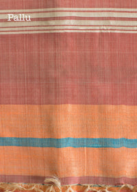 Handwoven Multicoloured Tussar Silk Saree, Tussar Silk Saree, iHaat.in, ihaat, [made_in_india], [handmade] - ihaat