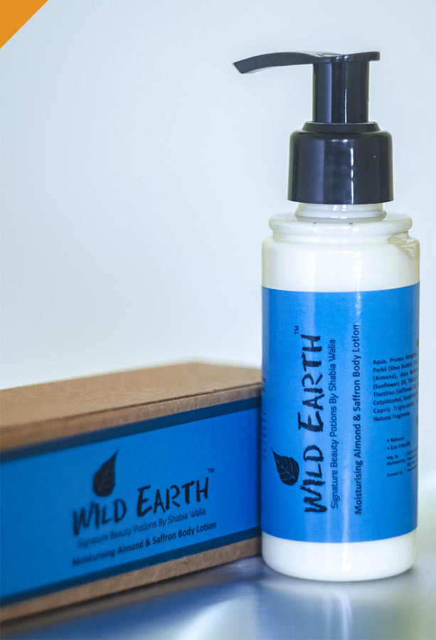 Wild Earth Saffron Almond Body Lotion, body lotion, Wild Earth, ihaat, [made_in_india], [handmade] - ihaat