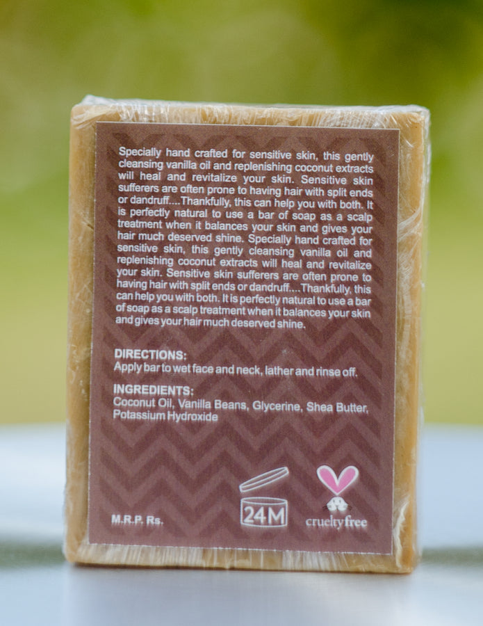ihaat.in Botanic Love Heritage Vanilla Coconut Hair and Body Bar