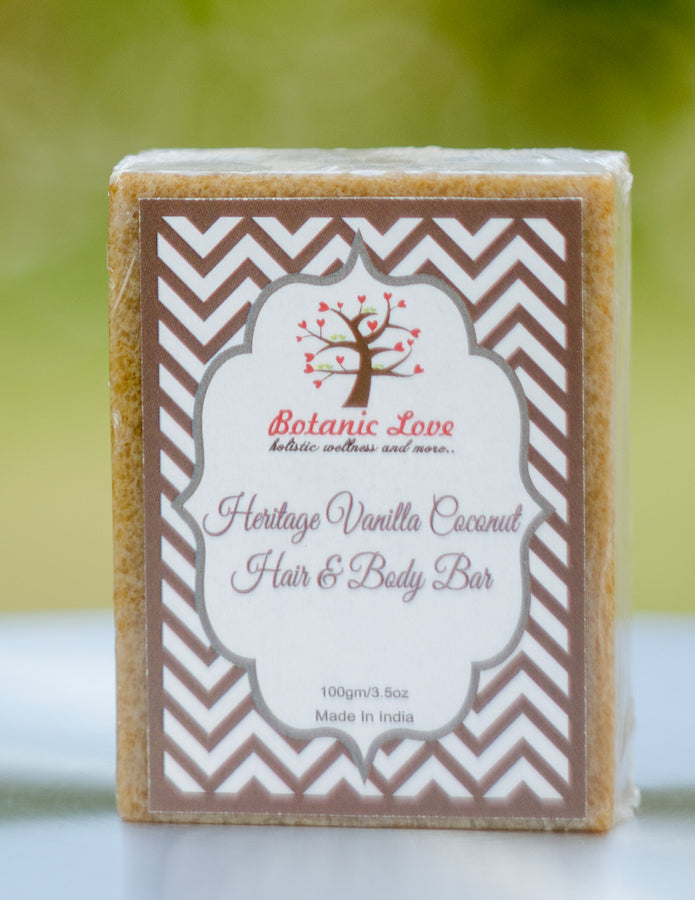Botanic Love Heritage Vanilla Coconut Hair & Body Bar, Body Care, Soap, Botanic Love, ihaat, [made_in_india], [handmade] - ihaat