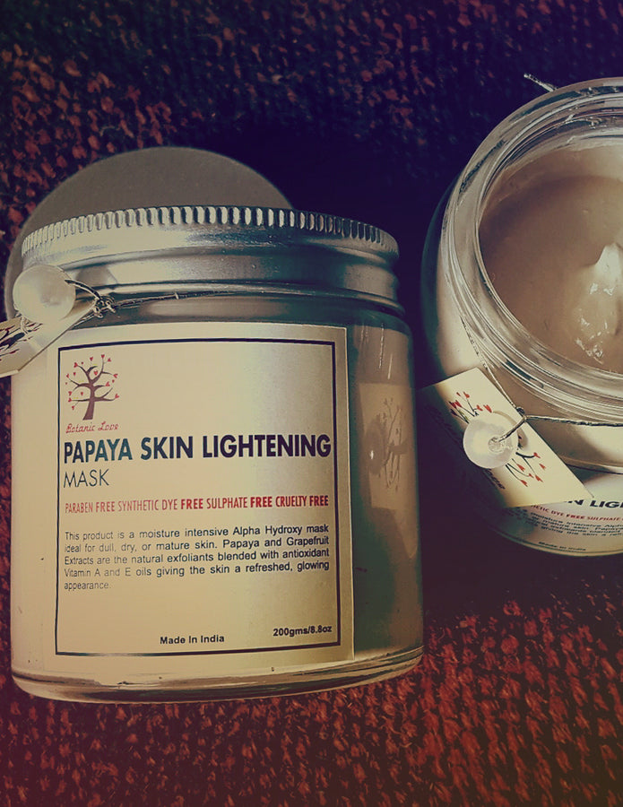 Botanic Papaya Skin Lightening Mask, Face Care, Botanic Love, ihaat, [made_in_india], [handmade] - ihaat