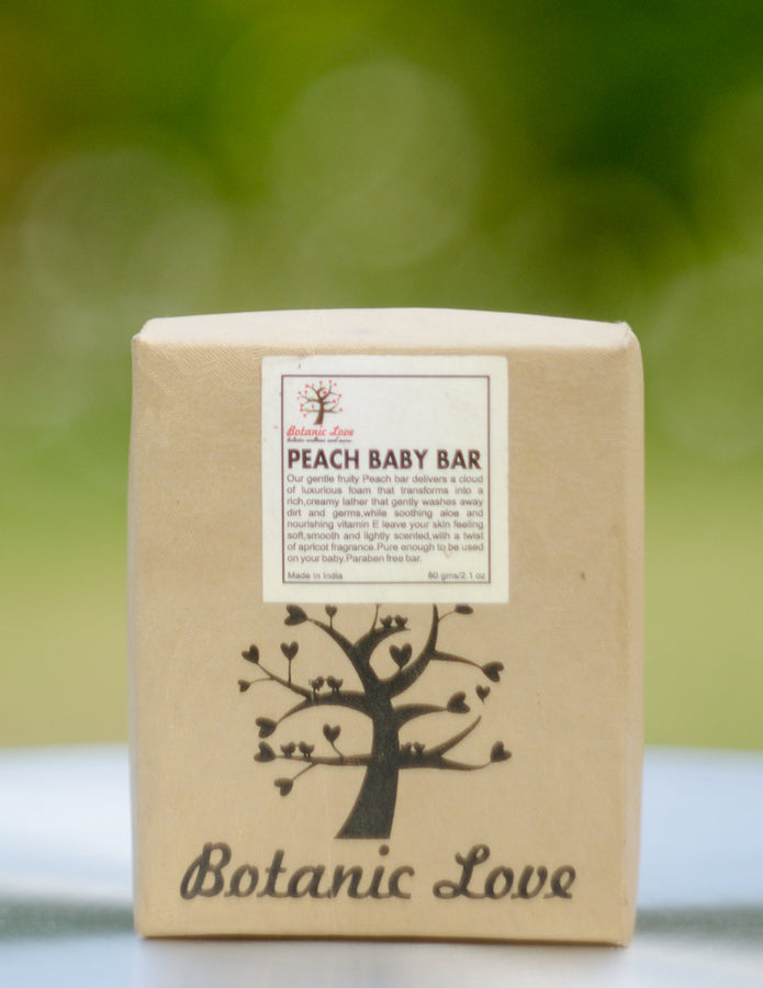 Botanic Love Peach Baby Bar, Body Care, Soap, Botanic Love, ihaat, [made_in_india], [handmade] - ihaat