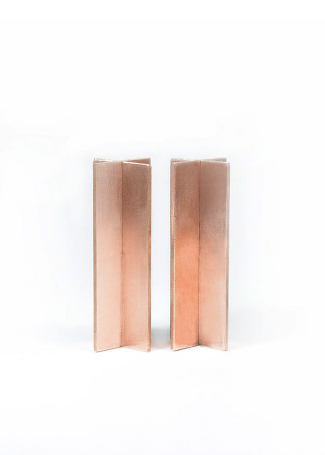 Deniable Studio X Stands Copper - Set of 2, , Deniable Studio, ihaat, [made_in_india], [handmade] - ihaat