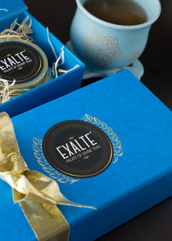 Exalté Festive Blue Gift Box, Tea, Exalté, ihaat, [made_in_india], [handmade] - ihaat