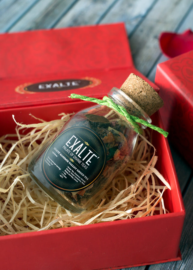 Exalté Red Gift Box, Tea, Exalté, ihaat, [made_in_india], [handmade] - ihaat