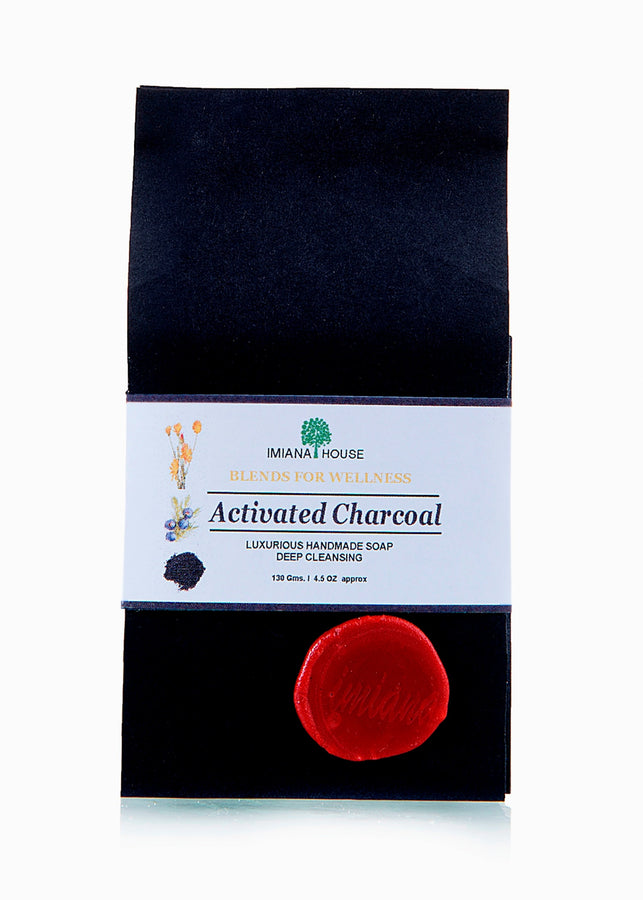 IMIANA HOUSE Activated Charcoal Soap, Body Care, Soap, IMIANA HOUSE, ihaat, [made_in_india], [handmade] - ihaat