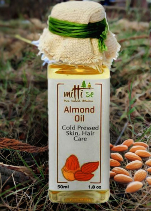 Mitti Se Almond Oil- Cold Pressed, Skin & Hair Care, Beauty & Skin Care, Mitti Se, ihaat, [made_in_india], [handmade] - ihaat