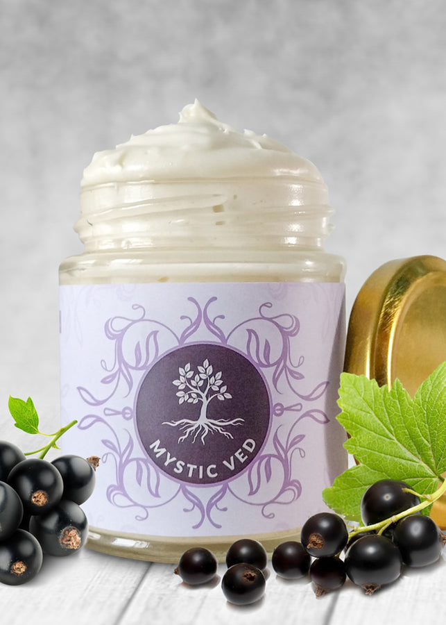 Mystic Ved Black Currant Body Butter, body butter, Mystic Ved, ihaat, [made_in_india], [handmade] - ihaat