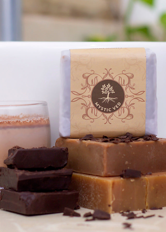 Mystic Ved Choco Musk Shea Soap, handmade soap, Mystic Ved, ihaat, [made_in_india], [handmade] - ihaat